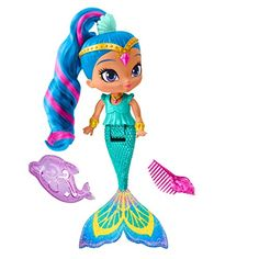 Little genies will have a magical time in the bath with magic Mermaid shine! inspired by an Episode where shimmer and shine turn into Mermaids this beautiful shine doll features a teal Mermaid tail a...