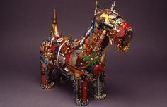 Leo Sewell, creates small, charming pieces from items he finds in the trash in his native Philadelphia neighborhoods.