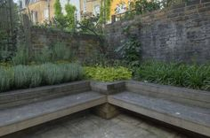 H C Landscape's project with railway sleepers seating by the play area