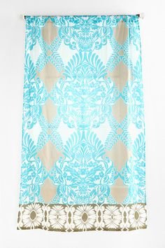 Comes in so many beautiful color combos! Vine Flourish Curtain  #UrbanOutfitters