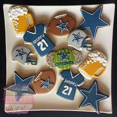 Sports Cookies, Dallas Cowboys Football Cookies, Beer Cookies