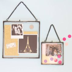 Square Glass Hanging Frame