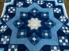granny square crochet quilt