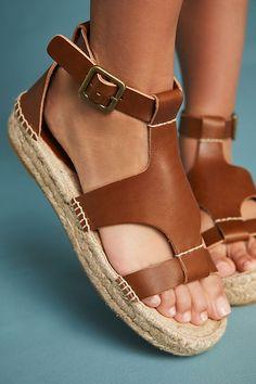 Slide View: 2: Soludos Banded Platform Sandals