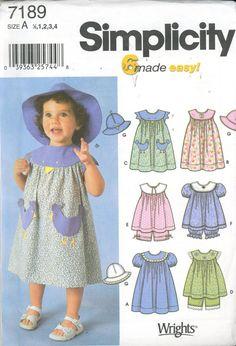 f6bc49ab05093b Simplicity Pattern 7189 Toddlers  Dress