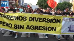 #TVbasura: ¿Qué se buscó con la marcha? Los asistentes te lo cuentan | Actualidad | Peru21