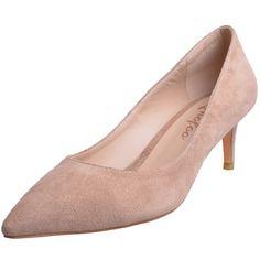 Low heel apricot peep toe women prom shoes #NancyJayjii #Lowheels #Womenshoes