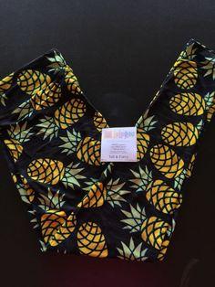 LuLaRoe Leggings TC Pineapples Hawaiian Trip Honeymoon? Black NIP *UNICORN* LQQK #LuLaRoe