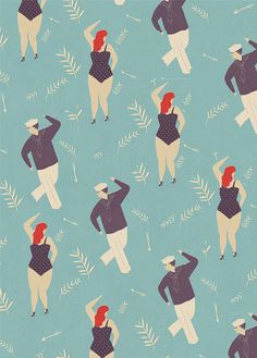 Lagom Wrapping Paper - Naomi Wilkinson Illustration