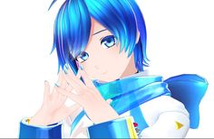 Creds @calmo_ing on Twitter | KAITO Vocaloid Kaito, Kaito Shion, My Wife And Kids, 3d Things, Cool Art, Nice Art, Love Blue, Anime Style, Holographic