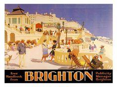 Brighton Rail Retro Travel Poster Print 1930s New