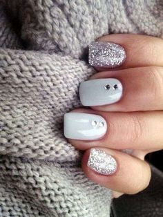 Nail art is a very popular trend these days and every woman you meet seems to have beautiful nails. It used to be that women would just go get a manicure or pedicure to get their nails trimmed and shaped with just a few coats of plain nail polish. Hair And Nails, My Nails, Prom Nails, Gems On Nails, Nails With Diamonds, Nail Jewels, Homecoming Nails, White Diamonds, Nagellack Trends
