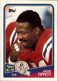 1988 Topps New England Patriots Football Card #186 Andre Tippett