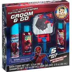 The Amazing Spider-Man Watermelon Scented Groom & Go Set, 5 pc