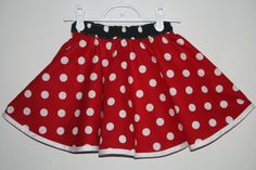Adult Minnie Mouse Skirt - Disney Costume - New Style- Available in two colors
