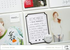journaling card ON the 4x6 photo.  With video from Stephanie Bryan on her Project Life scrapbooking process.