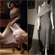 From King Memse's Curse (season 1, episode 13) the final scene, love the movement of this dress, so joyful. On the left as worn by Essie Davis, on the right from the Costume display at Old Government House Parramatta