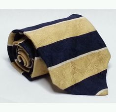 """#ebay Claiborne men dress tie yellow blue stripes 3.5"""" wide 57"""" long silk withing our EBAY store at  http://stores.ebay.com/esquirestore"""