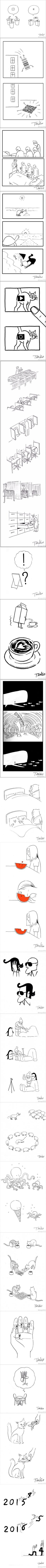 Funny minimalist comic strips