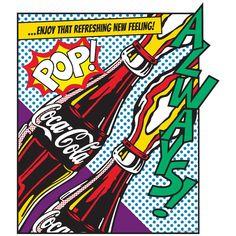 Coca-Cola Decal Pop Art  Bottle Comic Style-Vinyl Decal-Peel and Stick Decal-Self Stick Decal-Removable Graphic-Vintage Style