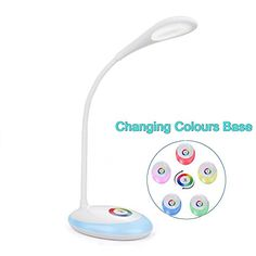 Wiitek Wireless LED Desk Lamp, 3 Dimmable Modes, Color Ch...