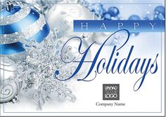 blue happy holiday free greeting card template 60 off ends 11117