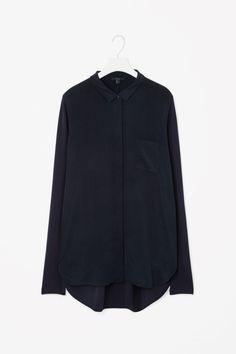 COS   Silk front panel shirt