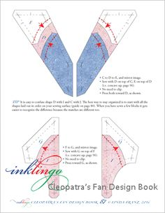 Cleopatra's Fan Quilt Design Book - Order and download it while it is still free! (138 pages, PDF)