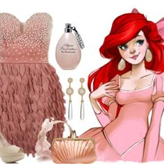 Ariel (The Little Mermaid) Pink Dress Inspired Outfit