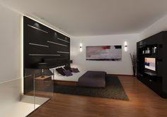 Loft para un caballero Montevideo, Uruguay. Año 2010.  Dormitorio minimalista con cabecera en madera y acero.  #design #art