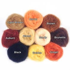 boucles medium Auburn 30g mohair