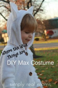 DIY Max from Where the Wild Things Are Costume and the site to order hooded footie pajamas. It may not be Halloween yet but my little monster would love to run around the house and hold down his forts with this costume this summer.