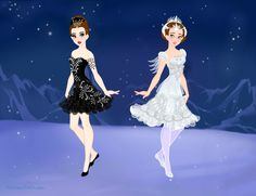 Swan Lake, Odile the Black Swan and Odette the White Swan