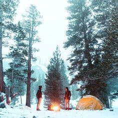 all this hot muggy weather has got us thinking about some cold weather camping