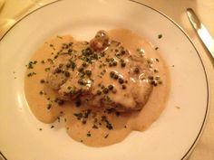 Filetto al pepe verde. Le ricette dello Chef del ristorante Giglio Rosso di Firenze. www.ristorantegigliorosso.com