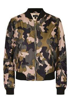 Pink Camo MA1 Bomber Jacket - Jackets & Coats - Clothing - Topshop