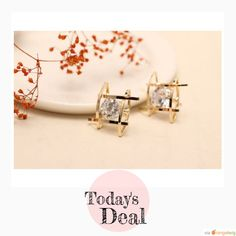 Today Only! 40% OFF this item.  Follow us on Pinterest to be the first to see our exciting Daily Deals. Today's Product: Gold Rhinestone Stud Earrings Buy now: https://small.bz/AAroCVq #musthave #loveit #instacool #shop #shopping #onlineshopping #instashop #instagood #instafollow #photooftheday #picoftheday #love #OTstores #smallbiz #sale #dailydeal #dealoftheday #todayonly #instadaily