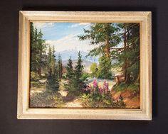 Der Kunst Blog: Ölgemälde: Sommerliche Waldlandschaft am Brocken /...