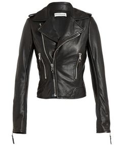 BALENCIAGA - Classic Lambs' Leather Biker Jacket
