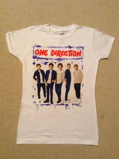 I got this at Hot Topic. This is the latest t-shirt at Hot Topic. I like this One Direction t-shirt.