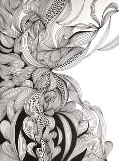 Ink Drawings ARTFINDER: Embrace by Helen Wells - An intricate, intuitive and unique hand drawn pen and ink drawing on Fabriano art paper. It depicts a visually rich, illusionary organic landscape which cele. Ink Pen Drawings, Zentangle Drawings, Zentangle Patterns, Zentangles, Poster Graphics, Organic Art, Tangle Art, Illustration, Wow Art