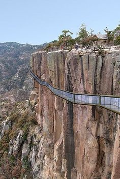 Cooper Canyon. Chihuahua, Mexico Yikes i would not walk on this, would you?