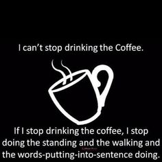 Can't stop drinking my coffee ☕