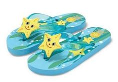 Cinco Starfish Flip-Flops Size 6-7  Item #: 6440    Price: $7.99
