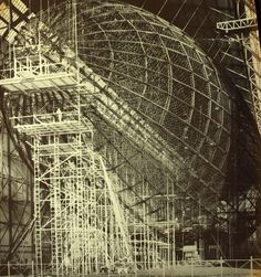 Contruction of 'The Hindenburg' in Friedrichshafen, Germany, 1935
