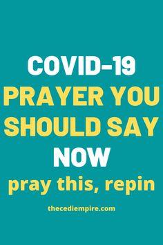 Covid-19 prayer you should say now. #Covid-19 #Pandemic #Coronavirus #God #Jesus #catholicfaith #June2021 #Prayerinspiration #Powerful Miracle Prayer, Answered Prayers, God Jesus, Bible Scriptures, Faith, Sayings, Lyrics, Bible Scripture Quotes, Loyalty