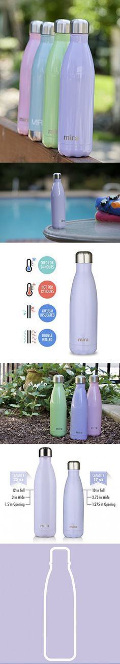 Black Natico Insulated Hot or Cold Water Bottle 17 oz