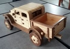 Handmade Wooden Toy Truck, Dodge Power Wagon, Pickup Truck, Wooden Model, 4x4 #handmade #handcrafted #woodentoy #toys #model #dodge #powerwagon #pickup #trucks