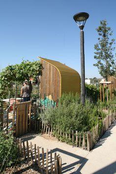 jardin familiaux aux abords du groupe scolaire Blaise Pascal à Perpignan Maitrise d'oeuvre : Atelier sites paysagistes