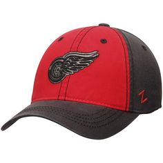 Detroit Red Wings Zephyr Cobalt Slouch Adjustable Hat - Red Charcoal -   21.99 a5d274e34